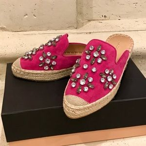 Halogen Shoes - NWT Halogen Blythe fuchsia  suede espadrille mules